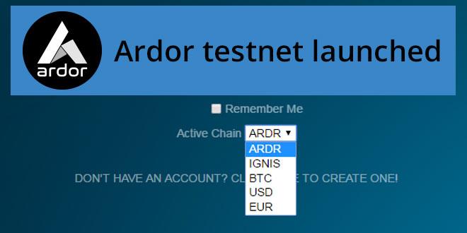 Ardor-testnet-launched