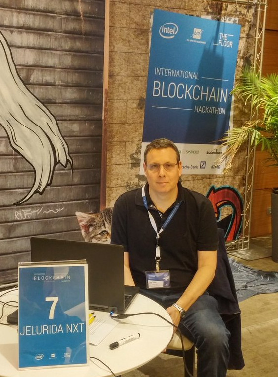 Riker in the latest International Blockchain Hackathon organized by Intel
